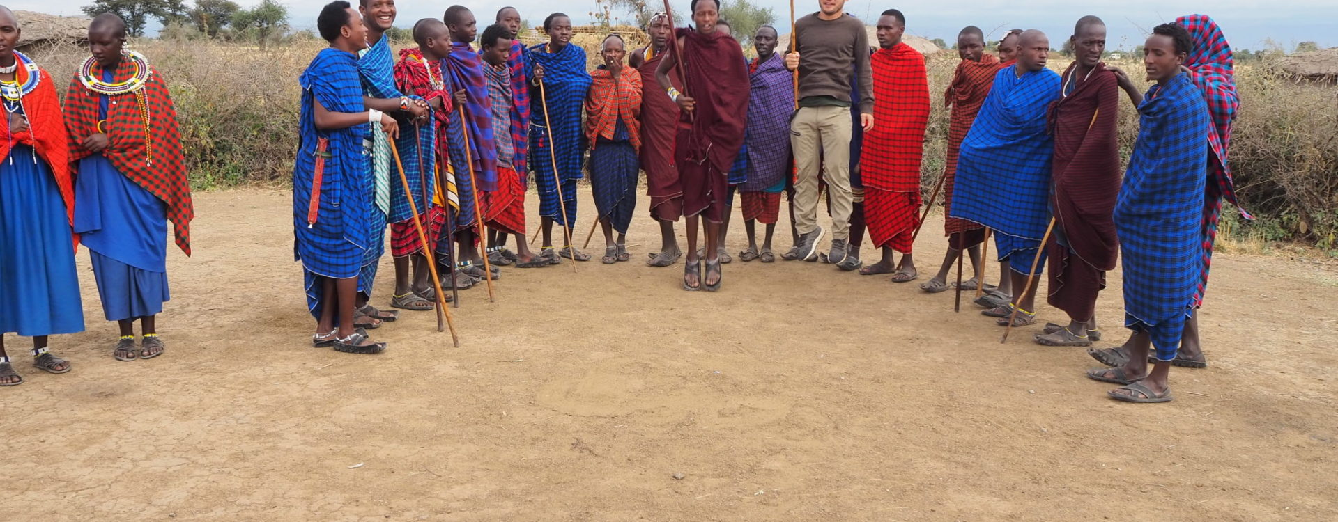 N Wong Maasai Village visit and jumping